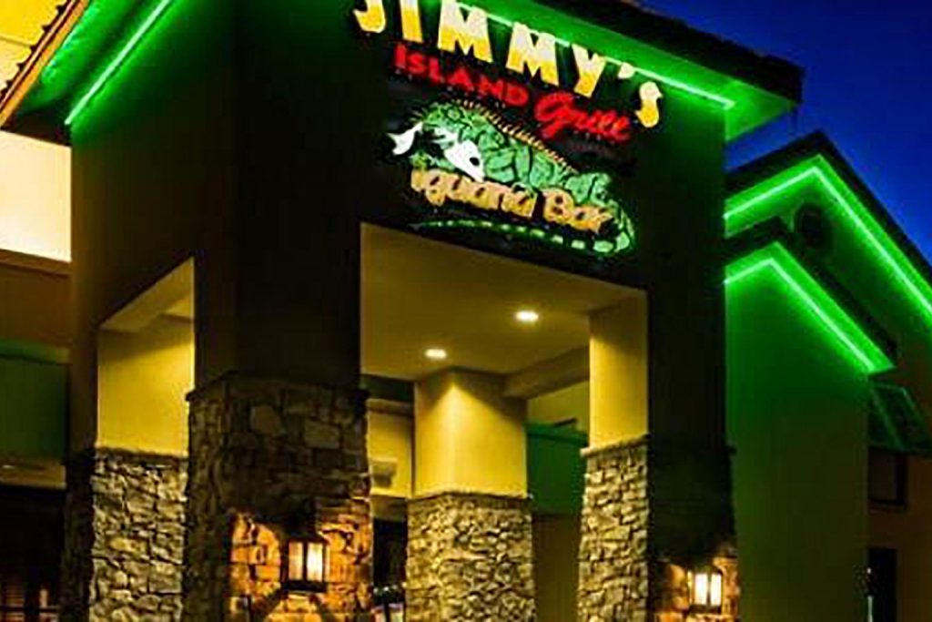 Jimmys Island Grill At Night
